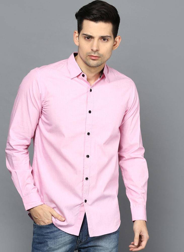 Pastel Pink Button down Shirt with Contrast Buttons