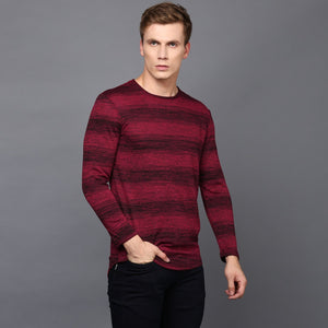 Red & Black Striped  Long Sleeved T-Shirt