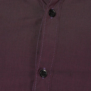 Burgandy Button Down Slim Fit Shirt