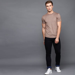 Basic Crew Neck Melange T-Shirt