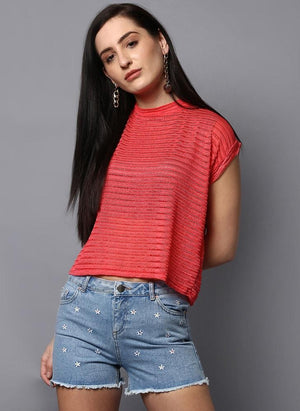 Coral Box-Fit Top