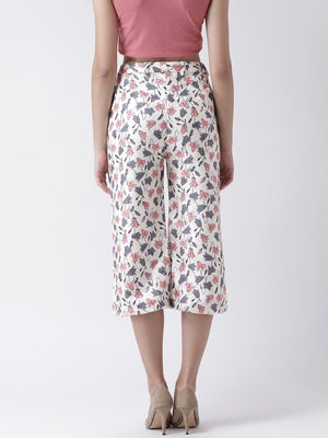 Floral Printed Culotte Trousers