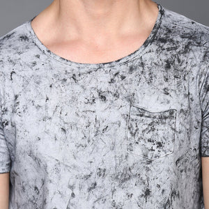 Grey Cloud Wash Basic T-Shirt