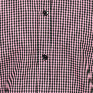 Chambray Black & Pink Checkered Shirt