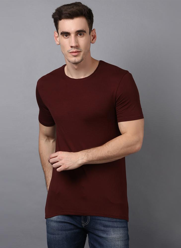 Basic Brown Crew Neck T-Shirt