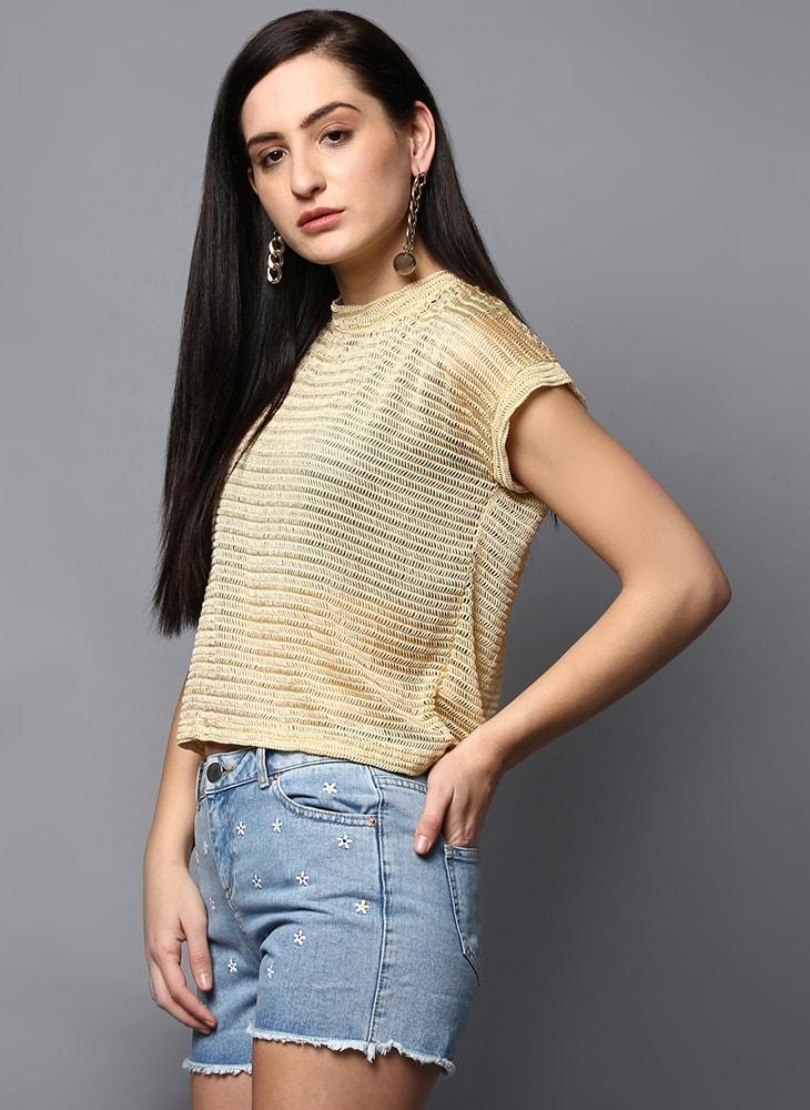 Pastel Yellow Box-Fit Top