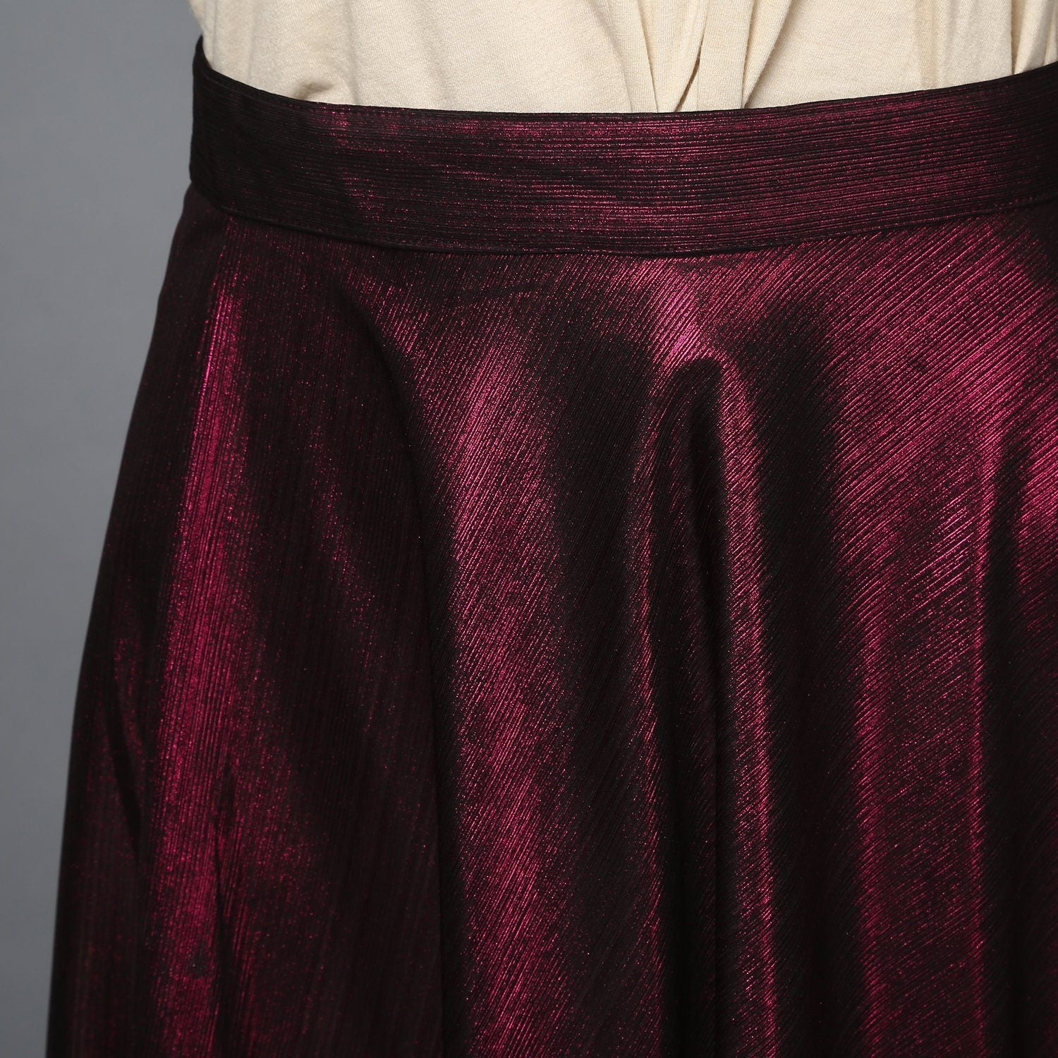 Magenta Metallic Skater Skirt