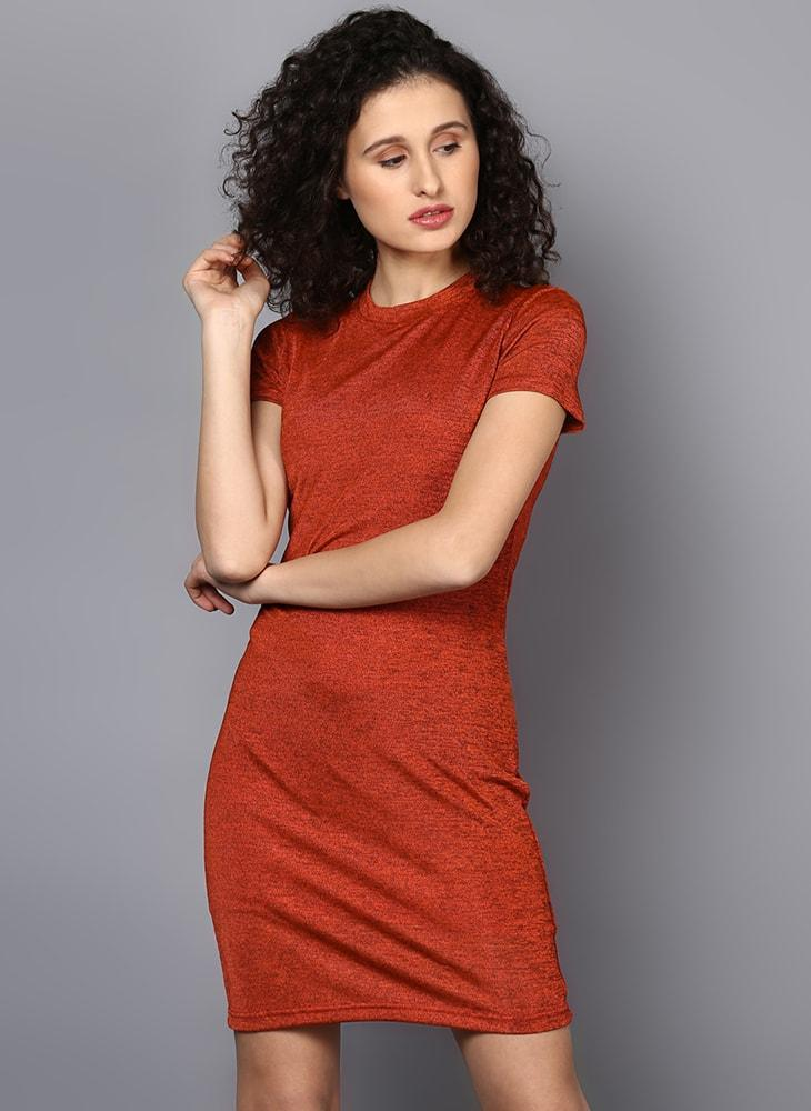 Basic Melange T-Shirt Dress