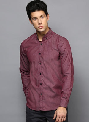 Two-Tone Shirt with Contrast Buttons