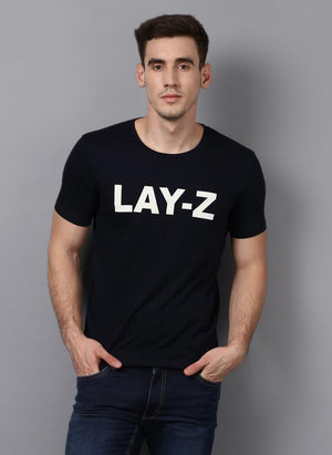LAY-Z' Printed Basic Black T-Shirt