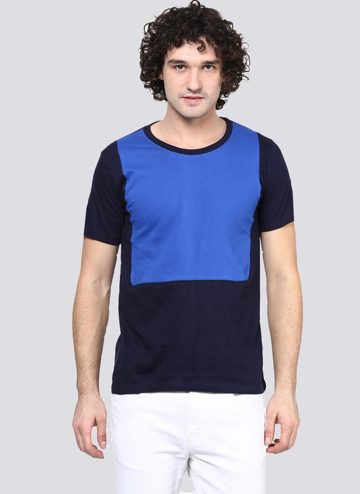 Cut & Sew Basic T-shirt in Blue