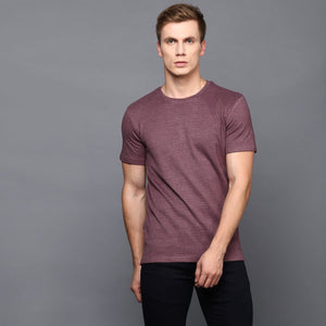 Mauve Basic Crew Neck T-Shirt