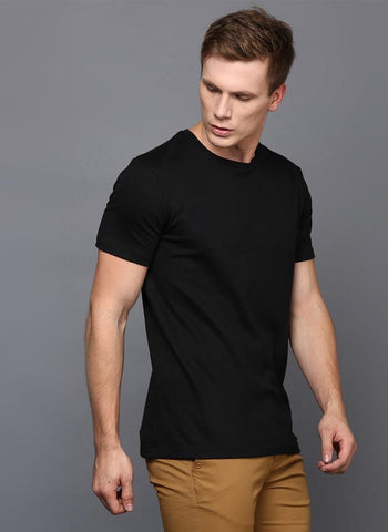 Basic Black Crew Neck T-Shirt