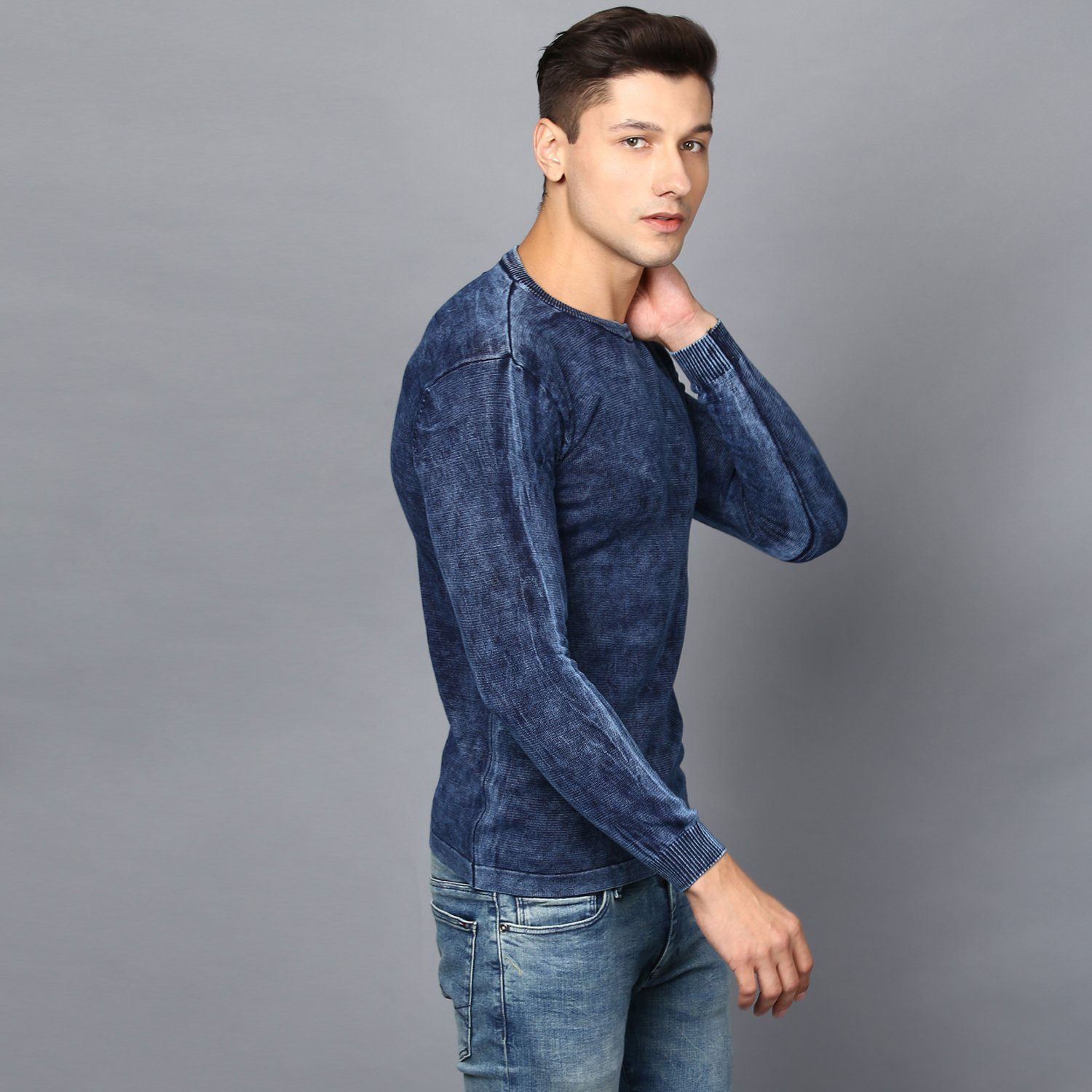 Indigo Wash Full Sleeved Jumper