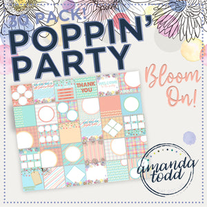 BLOOM ON THEME POPPIN' PARTY IMAGE PACK - Set of 30 Template Graphics