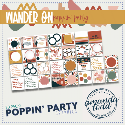 WANDER ON POPPIN' PARTY IMAGE PACK - Set of 30 Template Graphics
