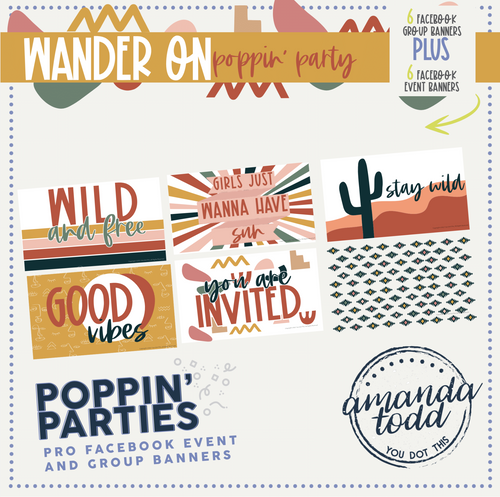 WANDER ON THEME POPPIN' PARTY- Facebook Event and Group Banners
