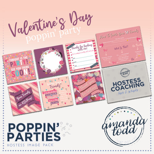 VALENTINE'S DAY THEME POPPIN' PARTY HOSTESS IMAGE PACK