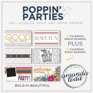 Poppin' Parties- Facebook Event and Group Banners