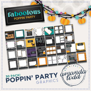 FaBOOlous THEME POPPIN' PARTY IMAGE PACK - Set of 30 Template Graphics