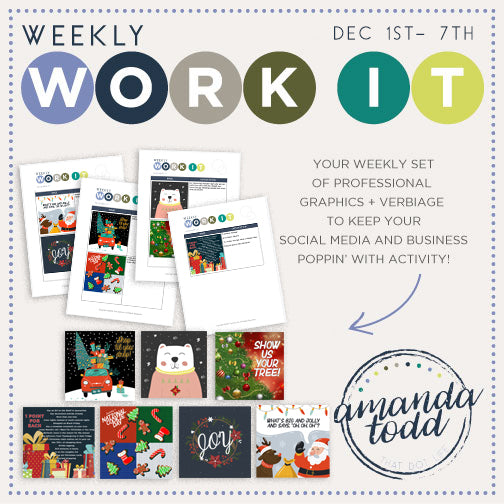 WEEKLY WORK IT IMAGE PACK (December- Week 1) - Set of 7 Images