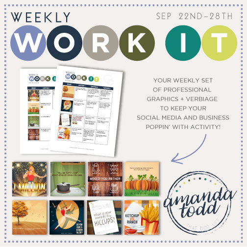 WEEKLY WORK IT IMAGE PACK (September - Week 4) - Set of 8 Images