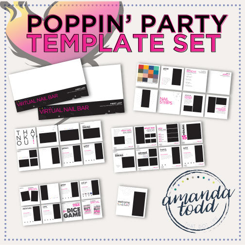 Nail Ladies- POPPIN' PARTY TEMPLATE SET