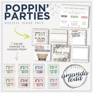 POPPIN' PARTY HOSTESS IMAGE PACK WITH VERBIAGE