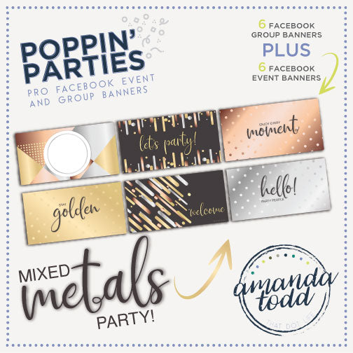 MIXED METALS POPPIN' PARTY - Facebook Event and Group Banners