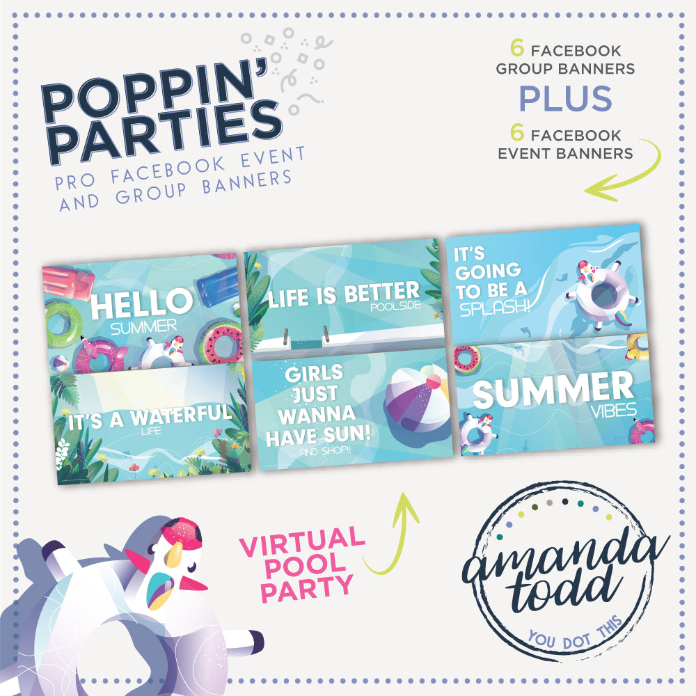 POOL POPPIN' PARTY- Facebook Event and Group Banners
