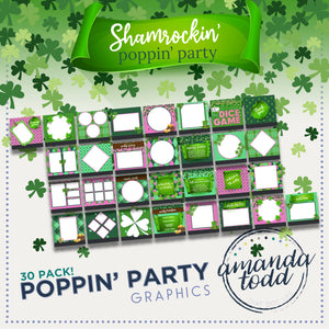 ST. PATRICK'S DAY THEME POPPIN' PARTY IMAGE PACK - Set of 30 Template Graphics