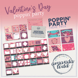 The VALENTINE'S DAY THEME POPPIN' PARTY PACK