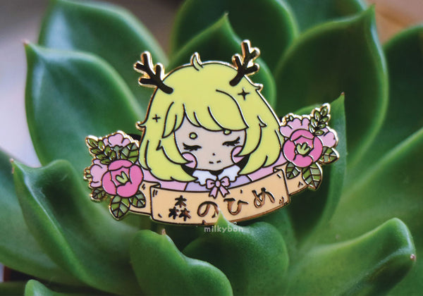 Forest Princess Enamel Pin