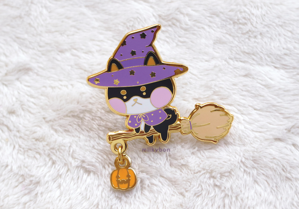 DISCOUNTED Seconds Shiba Witch Pin