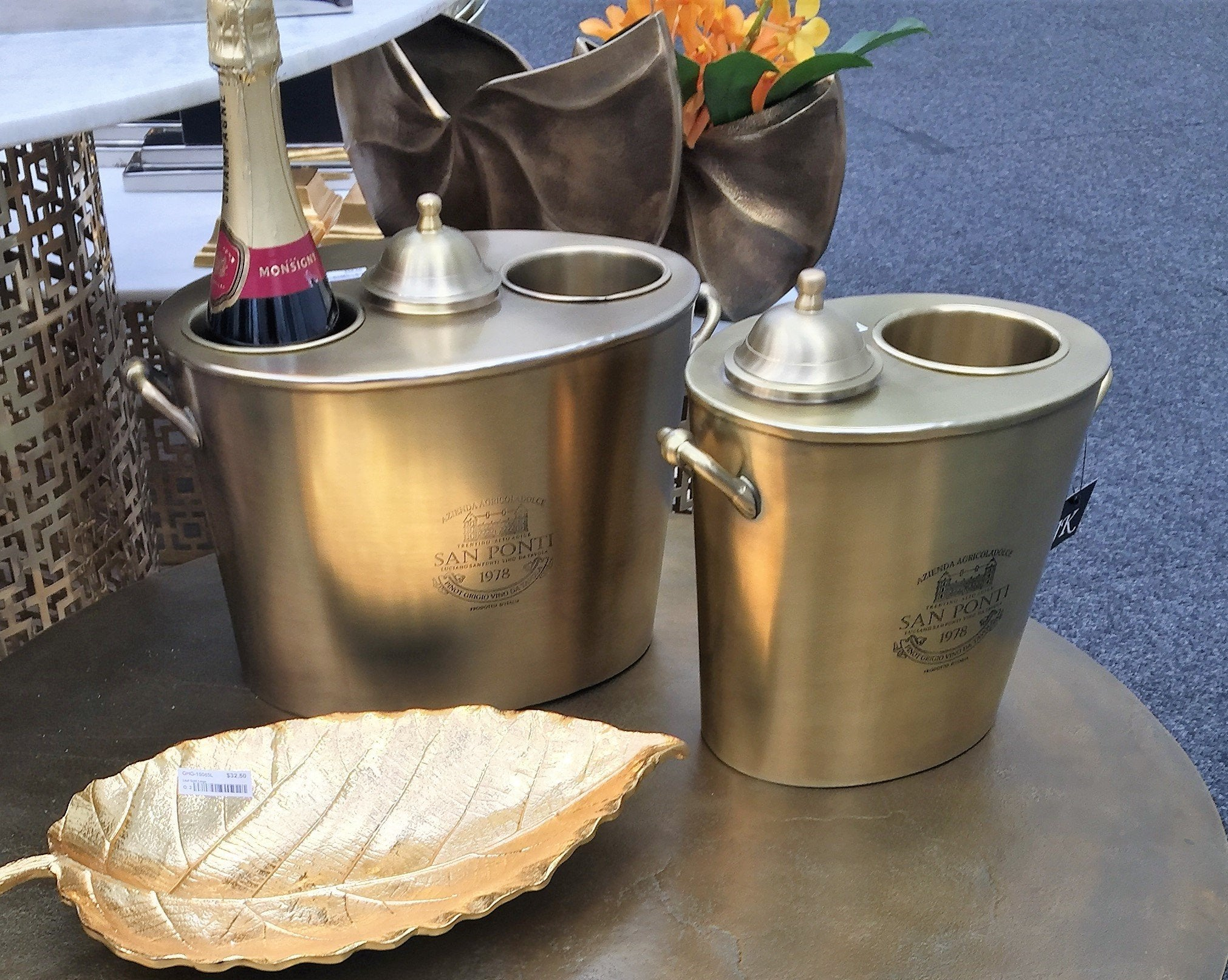 San Ponti Wine Cooler Brass
