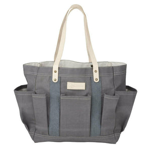 Waxed Canvas Tote Bag Grey