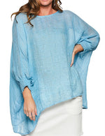 Load image into Gallery viewer, Cherie Linen Top in Blue