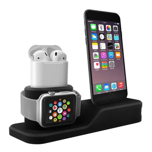 - 3-in-1 Apple Dock | Apple Docking Station | Home & Office Desk Stand - - Aftermarket Apple (aftermarketapple)