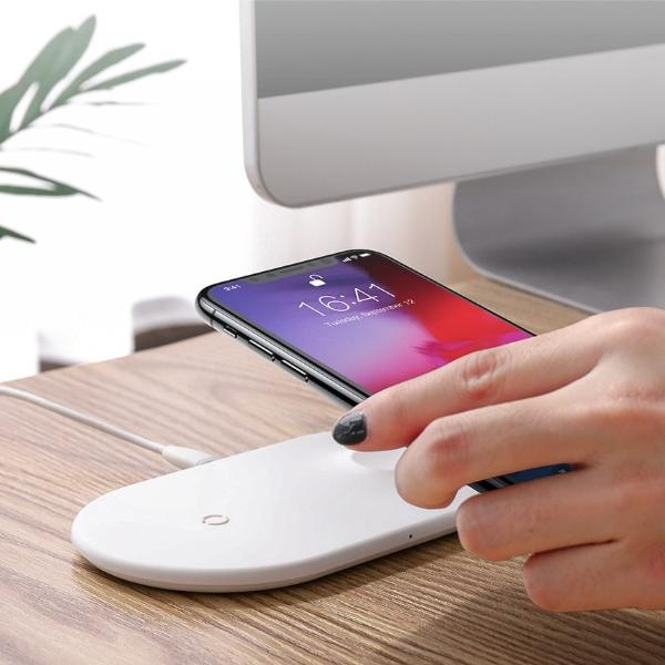 - Dual iPhone iWatch Wireless Charging Dock - - Aftermarket Apple (aftermarketapple)