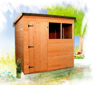 Suffolk pent roof shed
