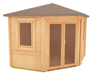 Bradwell Corner Log Cabin 28mm Logs