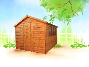 Warwick Apex roof shed 6ft eaves height