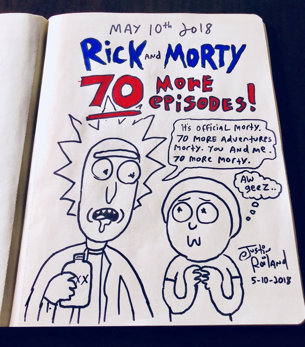 70 st. nya avsnitt av tv-serien Rick and Morty