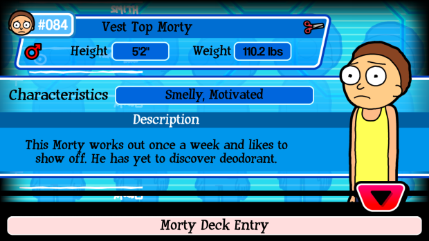 Vest Top Morty In The Game Pocket Mortys