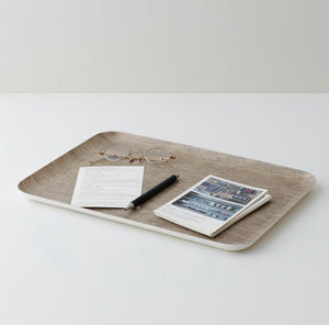 Linen Coating Tray Large Natural