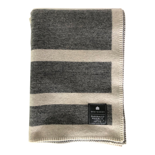 Faribault Embellished Framed Heather Gray/ Natural- Throw