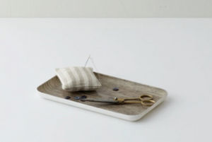 Linen Coating Tray Small Natural
