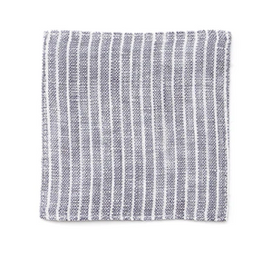 Linen Coaster Grey White Stripe (set of 6)