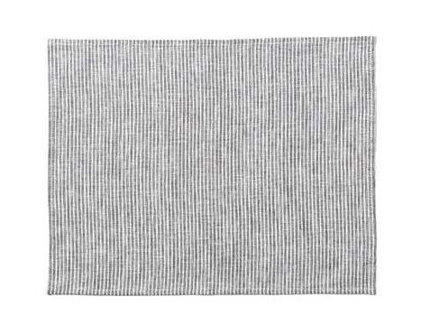 Linen Placemat Gray and White Stripe (set of 4)