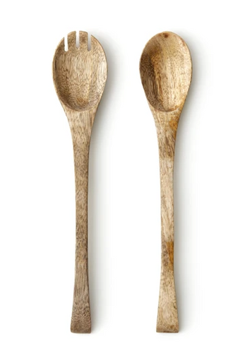 Mango Wood Salad Set